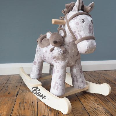 Personalised Rocking Horse - Biscuit