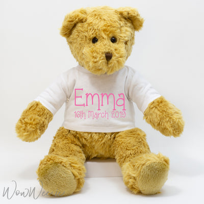Personalised Traditional Bear - For Girls