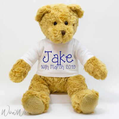 Personalised Traditional Bear - For Boys