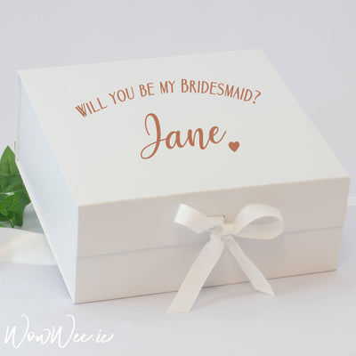 Personalised Bridesmaid Box - Will You Be My Bridesmaid?