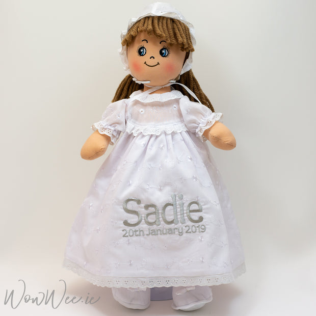Personalised Christening Doll - Faith