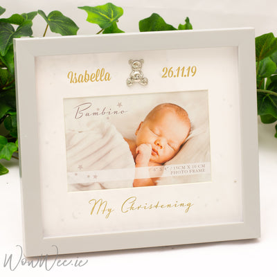 Personalised Christening Frame - with Stars and Moons