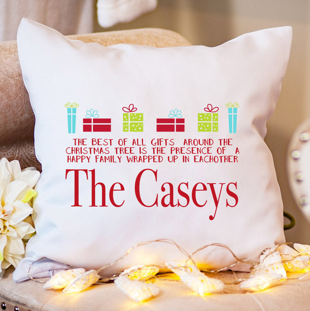 Personalised Christmas Cushion - Christmas Present