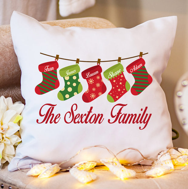 Personalised Christmas Cushion - Stockings