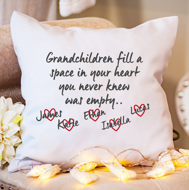 Personalised Cushion - Grandchildren Love
