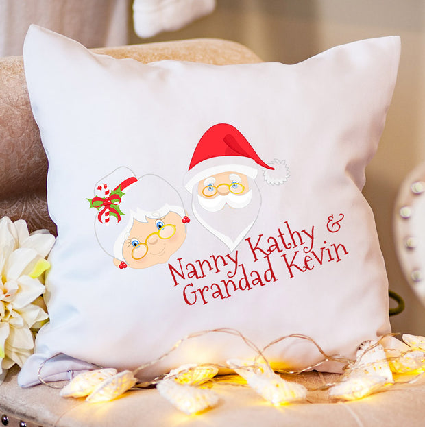 Personalised Christmas Cushion - Snow Couple