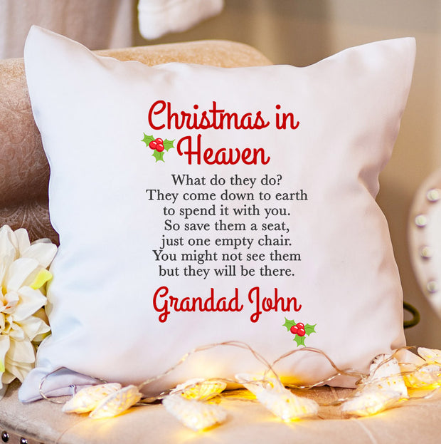 Personalised Christmas Cushion - Christmas in Heaven