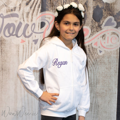 Personalised Flower Girl Hoodie - White