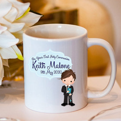 Personalised Communion Mug for Boys | Personalised Communion Gifts | Personalised Communion Gifts Ireland | Communion Gifts Ireland | Communion Gifts Online | WowWee.ie