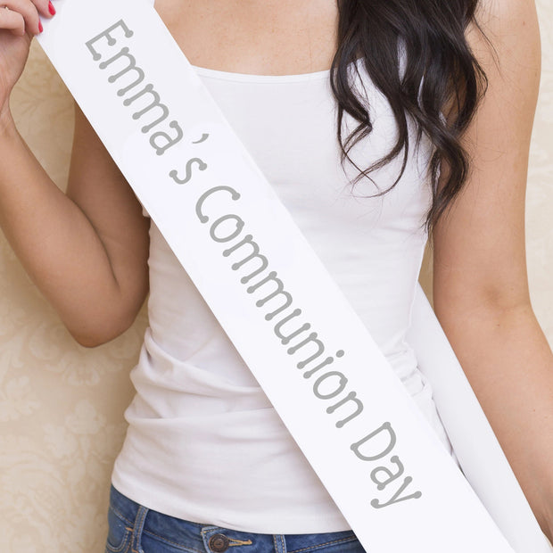 First Communion Sash | Personalised Communion Day Sash | Communion Gift Ideas | Communion Sash | WowWee.ie