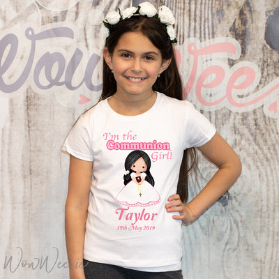 Personalised Communion T-Shirts for Girls | Personalised First Holy Communion Gifts | Personalised Communion Day Keepsakes | Communion Gifts Ireland | WowWee.ie