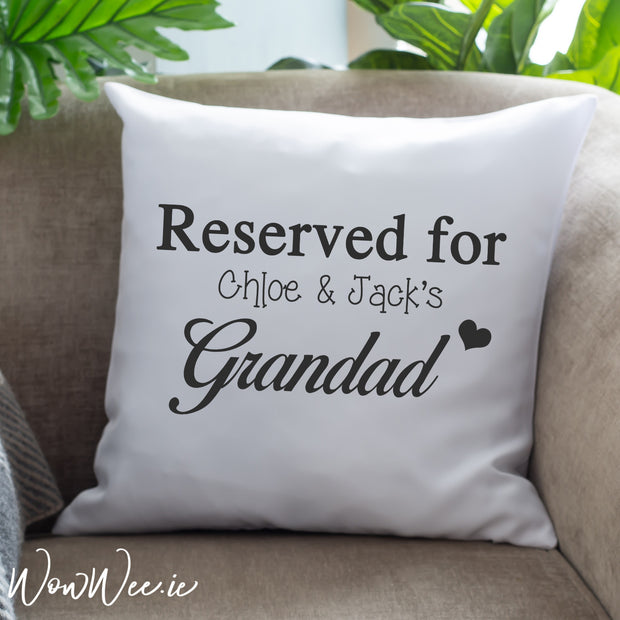 Personalised Cushion for Someone Special - Reserved For