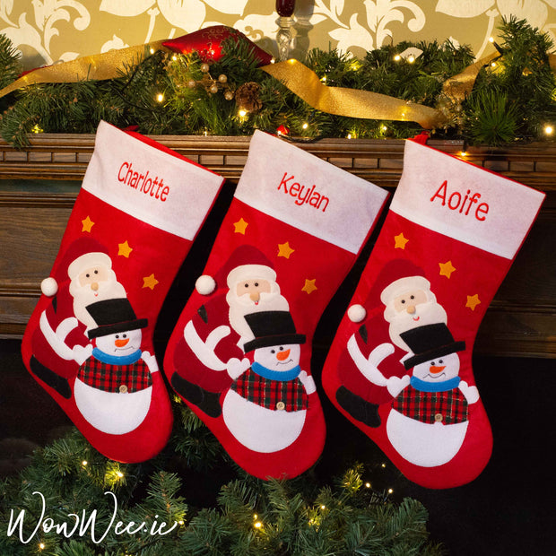 Bring some Christmas magic into your home this year with a Personalised Felt Christmas Stocking beautifully embroidered with a name of your choice specially for you by WowWee.ie