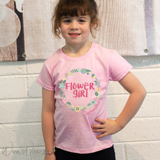 Personalised Flower Girl T Shirt