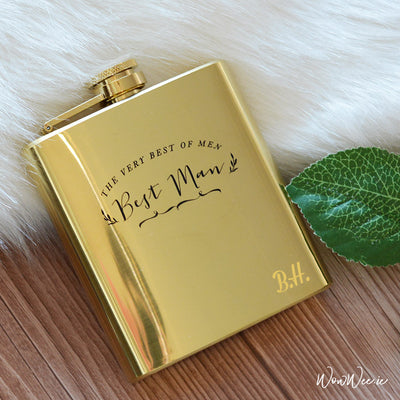 Personalised Hip Flask for Best Man - The Very Best of Men