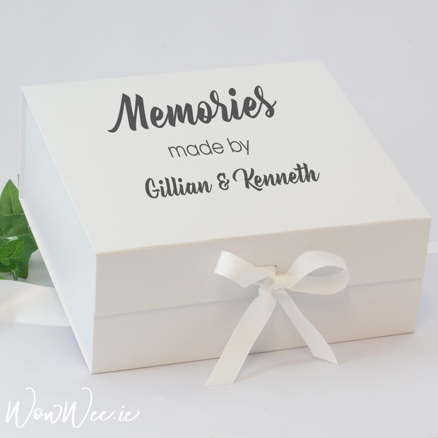 Personalised Keepsake Box for Couples - Memories Made By