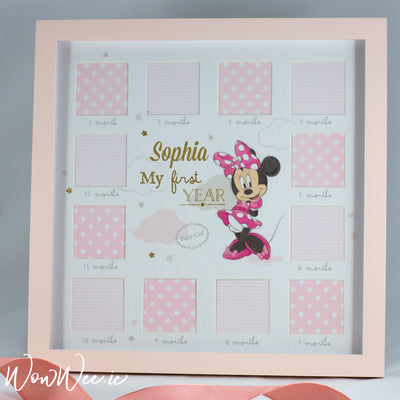 Personalised Photo Frame - Disney My First Year Frame - Minnie