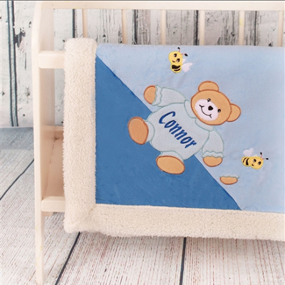 Personalised Baby Blanket for Boys - Snuggly and Soft