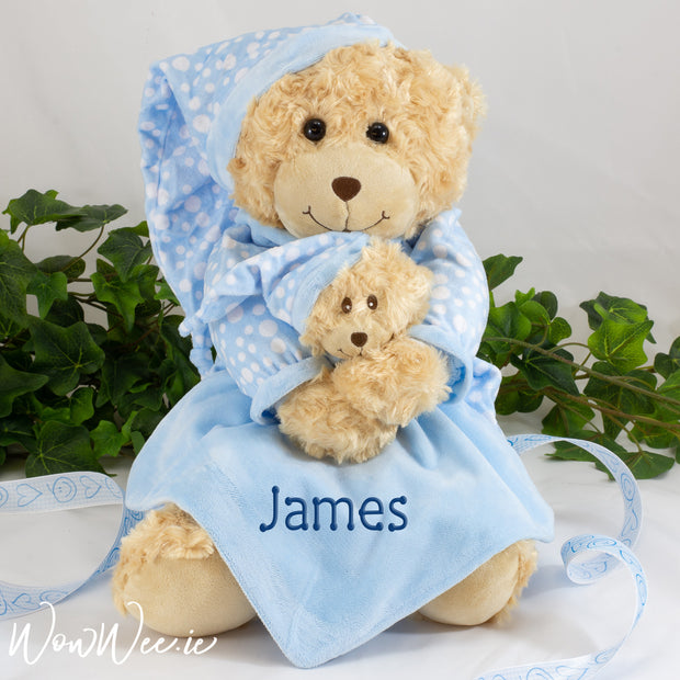 Personalised Teddy Bear - Bedtime Boy - WowWee.ie Personalised Gifts