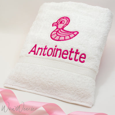 Personalised Bathtowel for Girls