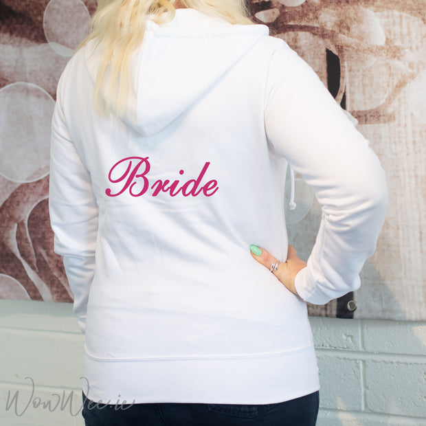 Personalised Bridal Hoodie - White
