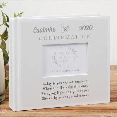 Personalised Confirmation Photo Album - Faith & Hope