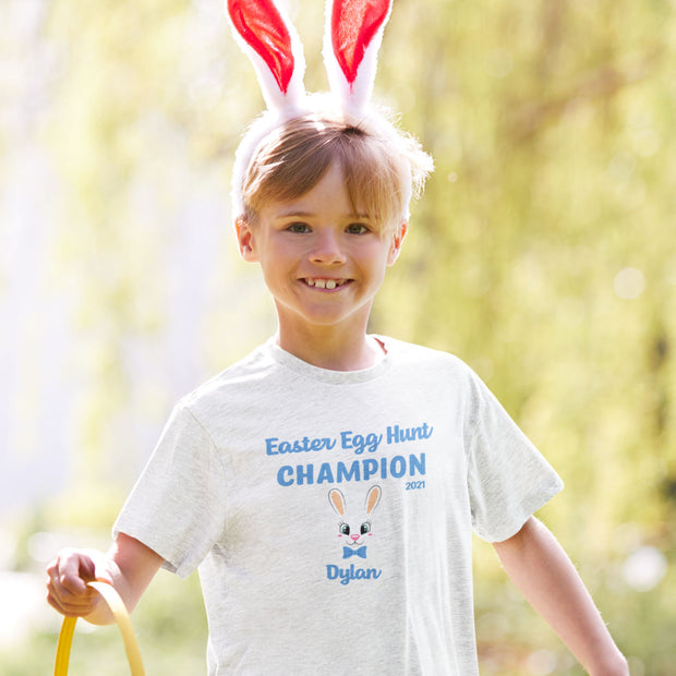 Personalised T Shirt for Boys - Easter Egg Hunt Champion - WowWee.ie Personalised Gifts