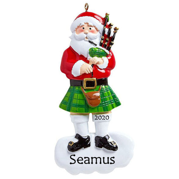 Personalised Christmas Ornament - Scottish Santa - Order Now, Dispatched from October 15th