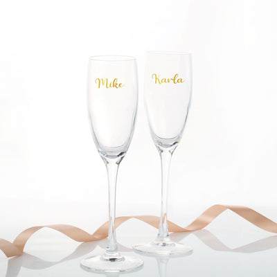 Personalised Champagne Flutes - Set of 2