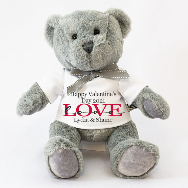 Personalised Teddy Bear for Valentine's Day