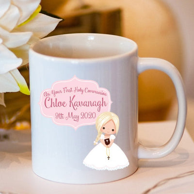 Personalised Communion Girl Mug | Personalised First Holy Communion Keepsakes | Personalised Communion Gifts Ireland | WowWee.ie
