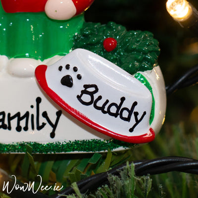 Personalised Christmas Decoration Add On - Pet Bowl - Dog/Cat - add to your ornament!