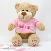 Personalised Teddy Bear - Pink Paws