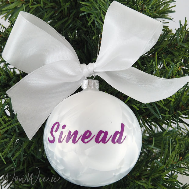 Personalised Luxury Christmas Bauble - Icicle Dream - 12cm