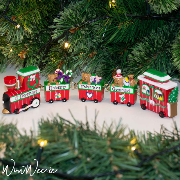 Personalised Linking Family Train - ORDER NOW for 1st week of December dispatch