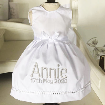 Personalised Communion White Dress - FREE SHIPPING