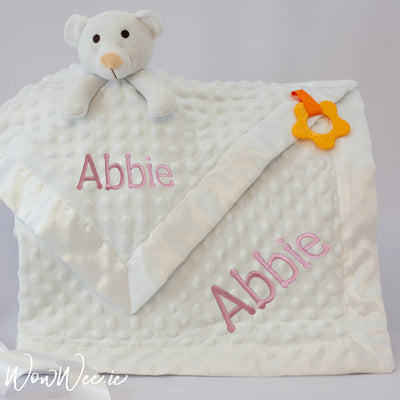 Personalised Baby Gift Set - Comfort Her White
