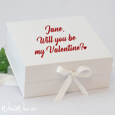 Personalised Valentine's Day Keepsake Box - Will you be my Valentine?