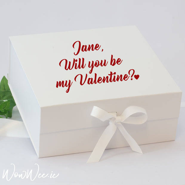 Personalised Valentine's Day Keepsake Box - Will you be my Valentine? - WowWee.ie Personalised Gifts