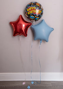Birthday Boy Trio of Balloons