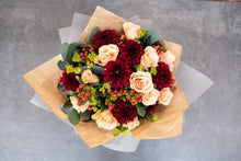 Load image into Gallery viewer, Rose, Chrysanthemum, berry bouquet