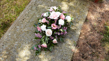 Load image into Gallery viewer, Funeral spray pink & green