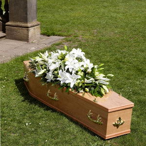 Lily Casket Spray Funeral Flowers