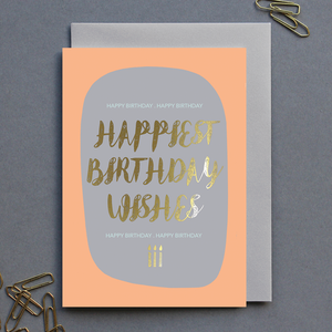 Birthday Card Peach Womens