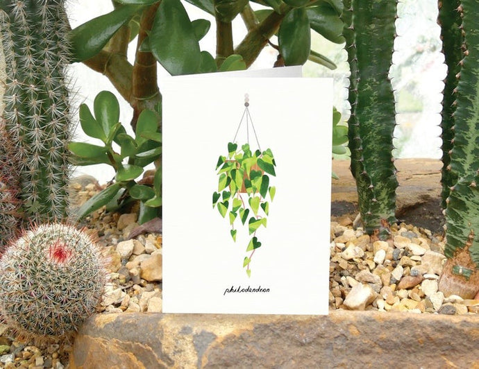 Philodendron Greeting Card