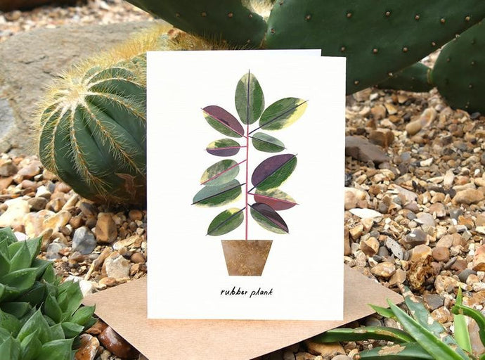 Rubber Plant Birthday Card