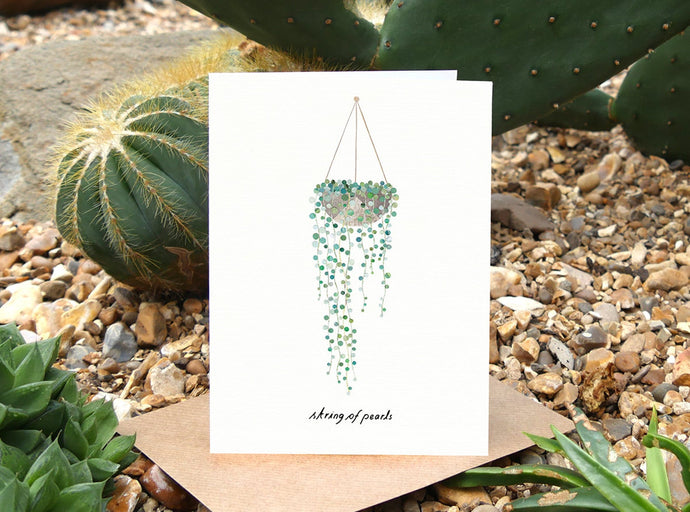 String of Pearls Birthday Card