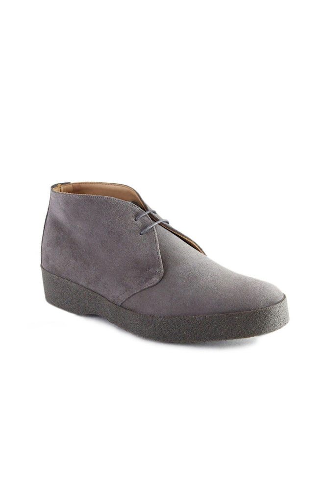 GREY SUEDE HI TOP CHUKKA BOOT