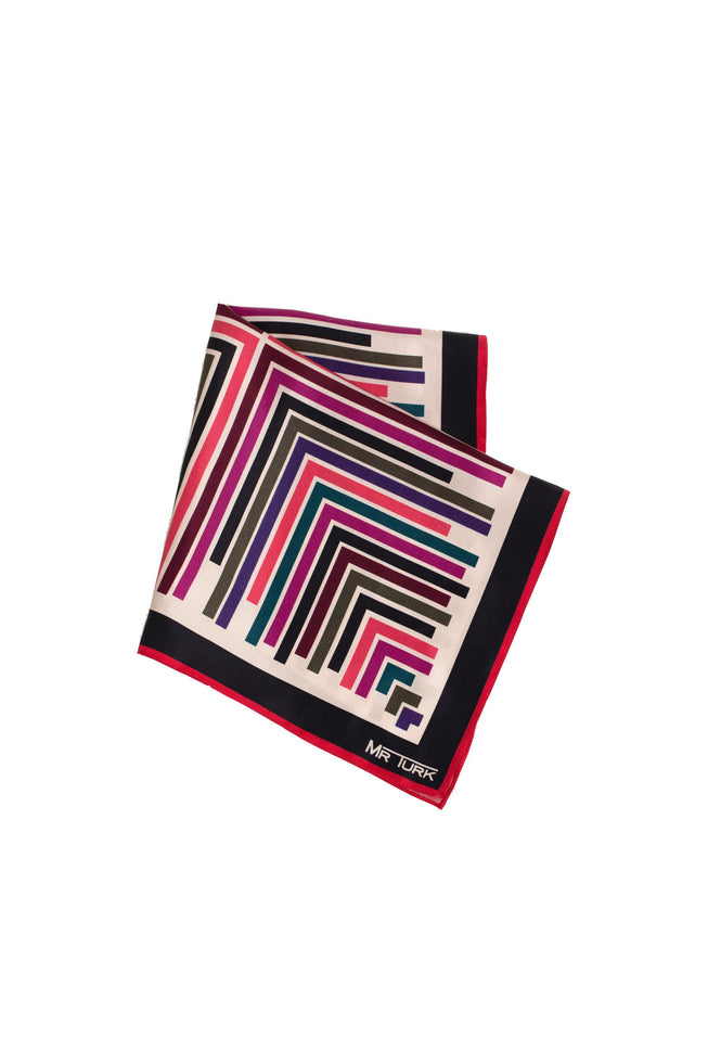 GEO STRIPES POCKET SQUARES