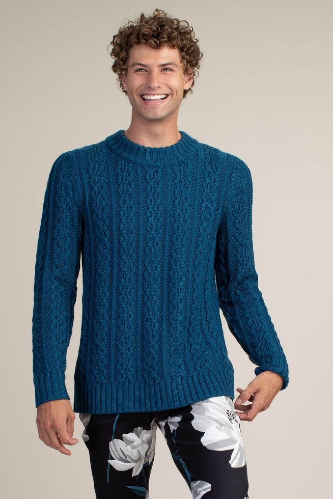 BREUER CHUNKY CABLE SWEATER
